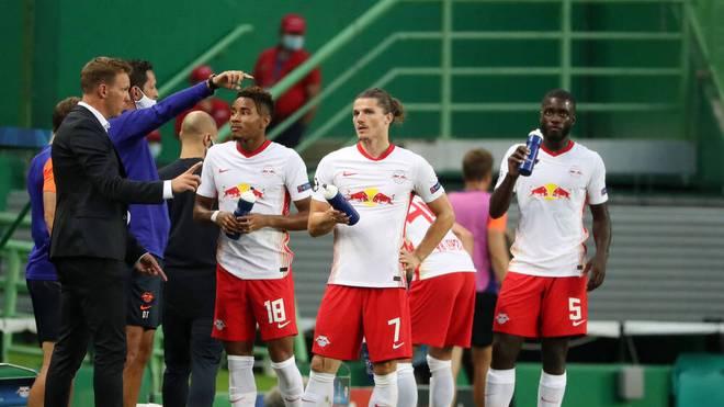 Marcel Sabitzer (2.v.r.) ist neuer Kapitän bei RB Leipzig