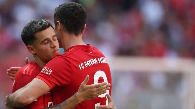 Philippe Coutinho und Robert Lewandowski harmonieren prächtig