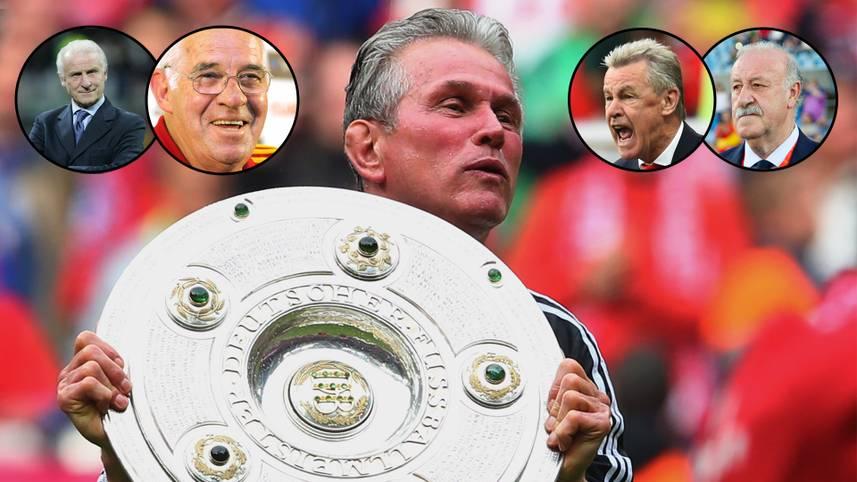 Mit 72 Jahren nimmt Jupp Heynckes zum vierten Mal auf der Trainerbank des FC Bayern Platz. Nach holprigem Saisonstart soll er die Bayern doch noch zum erfolg führen. SPORT1 zeigt andere Fußball-Trainer, die im Rentenalter Titel und Erfolge gefeiert haben