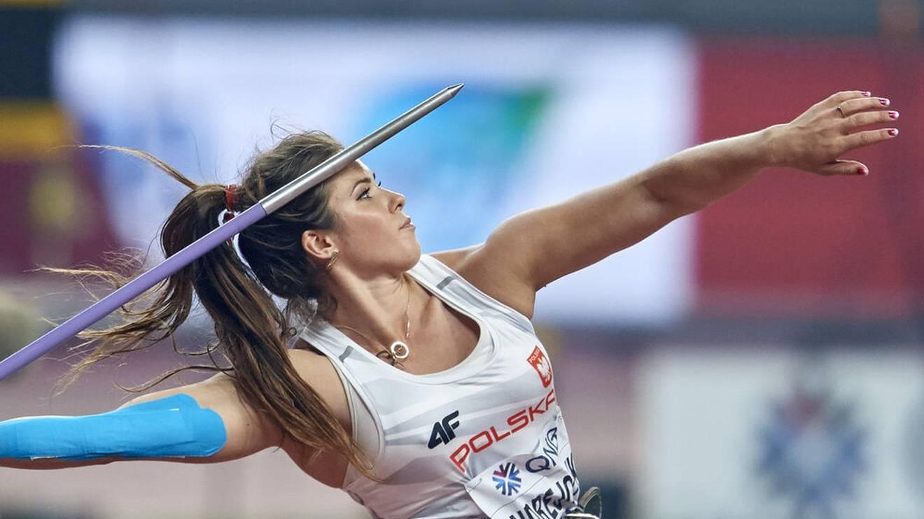 Maria Andrejczyk wirft die drittbeste Weite mit dem Speer