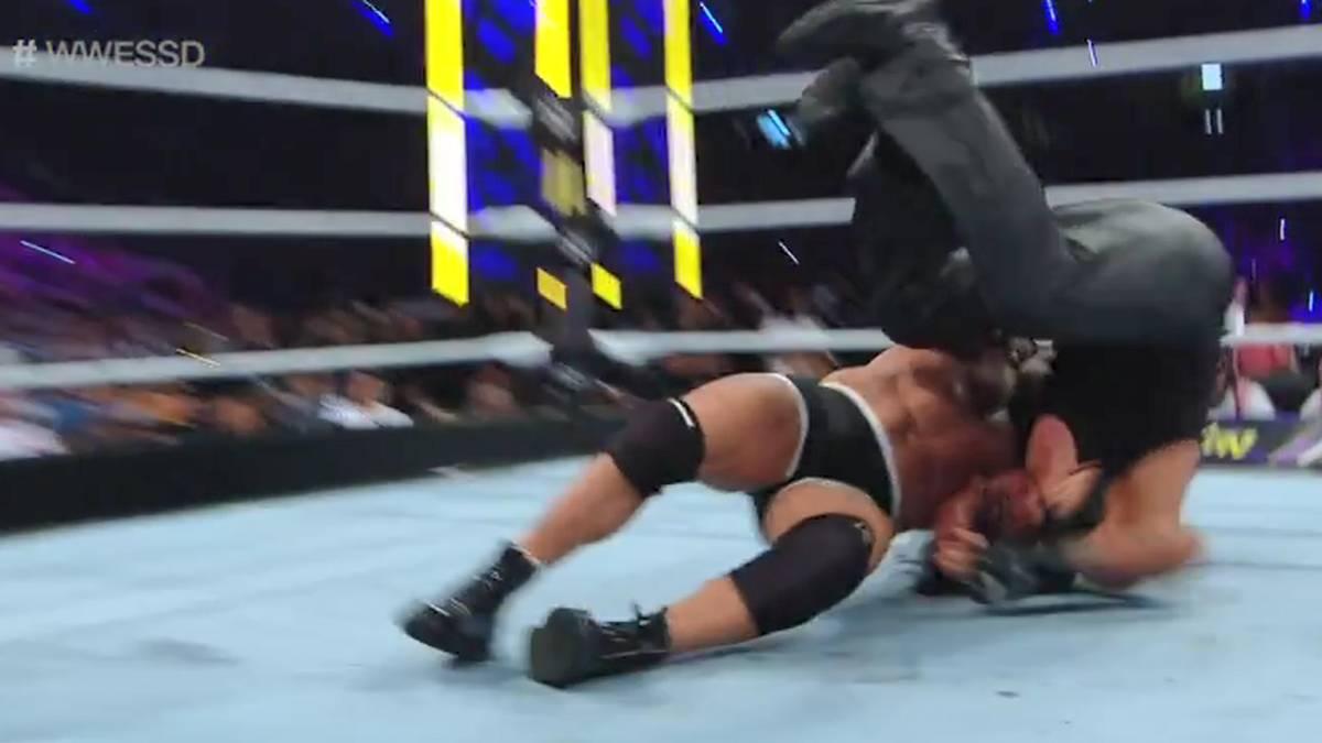 Bill Goldberg verunglückte im WWE-Duell mit dem Undertaker sein Jackhammer-Finisher
