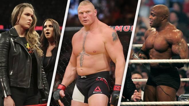 Bobby Lashley (r.) könnte Ronda Rousey zu WWE folgen, Brock Lesnar zu UFC gehen