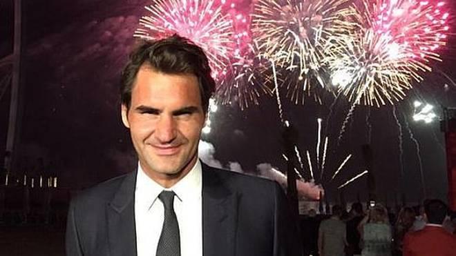 Roger Federer kommuniziert gerne mit seinen Fans.