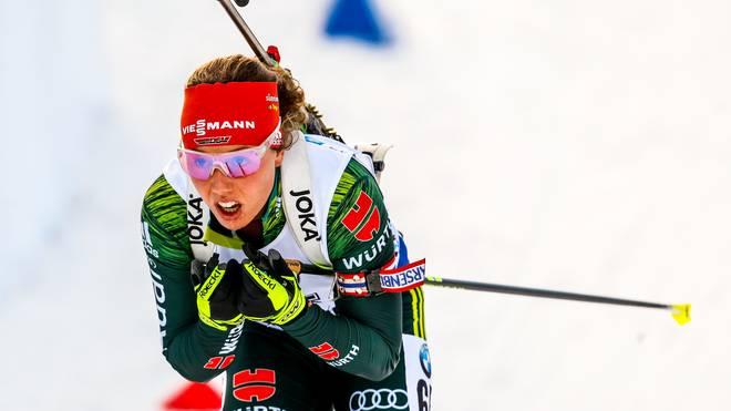 Laura Dahlmeier machte in ihrem zweiten Rennen nach ihrer Rückkehr als zweite Läuferin Boden gut