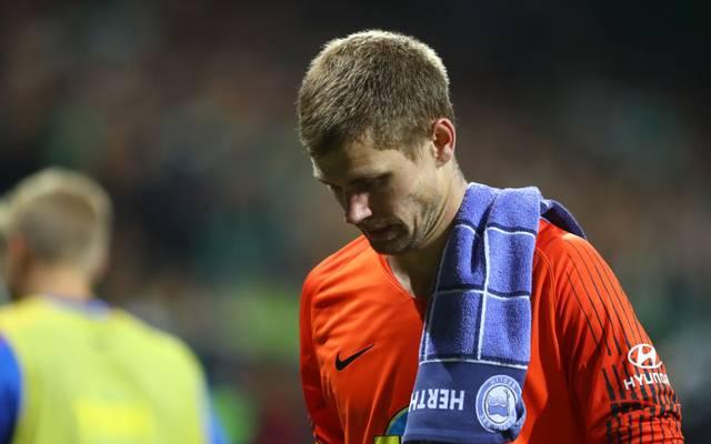 Hertha-Keeper Thomas Kraft fällt mit einer kuriosen Verletzung vorerst aus