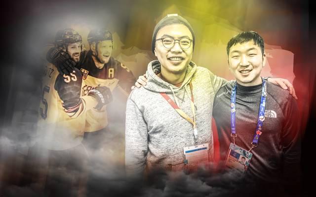 Joshua (l.) und Tayeun Kim sind die Kabinen-Glücksbringer der deutschen Eishockey-Helden