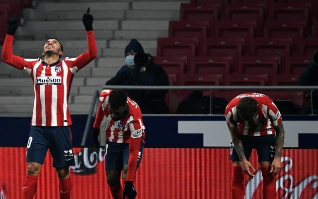 Correa (l.) bejubelt seinen Führungstreffer für Atletico Madrid
