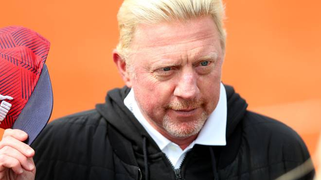 MUNICH, GERMANY - APRIL 30: Boris Becker looks on during day 4 of the BMW Open at MTTC IPHITOS on April 30, 2019 in Munich, Germany. (Photo by Alexander Hassenstein/Getty Images for BMW)