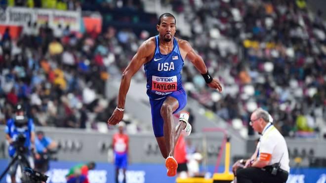 Christian Taylor holt sich den Sieg im Dreisprung