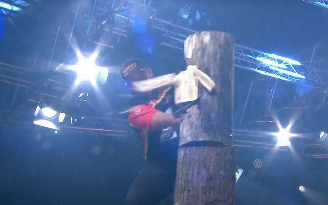 Danny Mahr bei der Deutschen Meisterschaft im STIHL Timbersports 2020