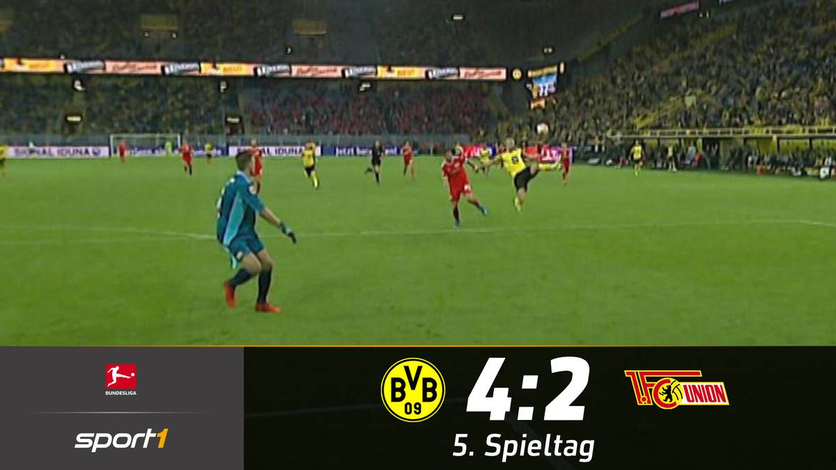 Es ist die nächste spektakuläre Show mit BVB-Beteiligung. Gegen Union Berlin kassiert Dortmund zwar erneut zwei Gegentore, behält aber durch eine hervorragende Offensivleistung die Überhand.
