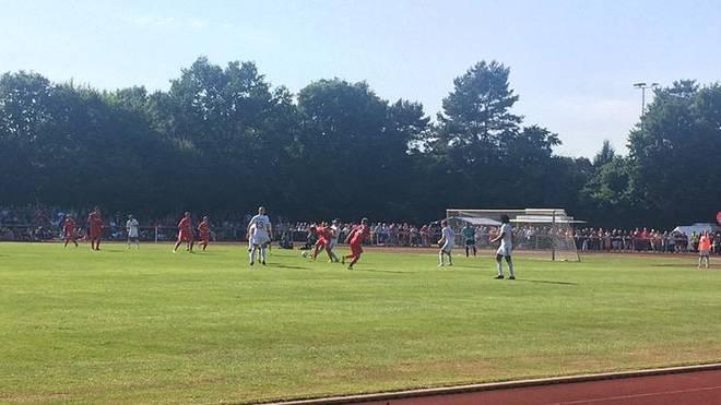Hannover 96 beim Testspiel gegen den 1. FC Wunstorf