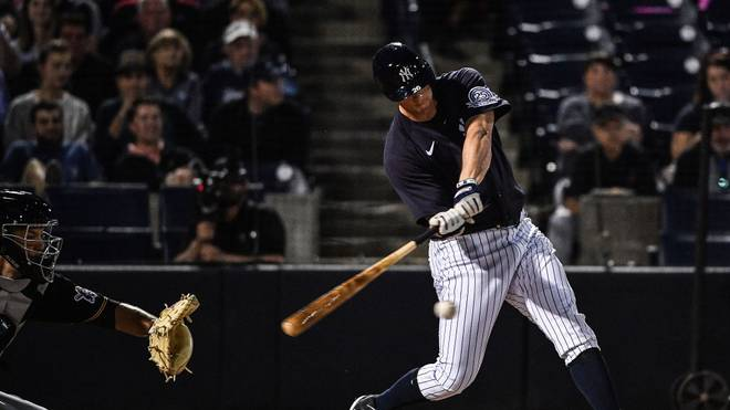 TAMPA, FLORIDA - FEBRUARY 24: DJ LeMahieu #26 of the New York Yankees at bat in the first inning during the spring training game against the Pittsburgh Pirates at Steinbrenner Field on February 24, 2020 in Tampa, Florida. (Photo by Mark Brown/Getty Images)