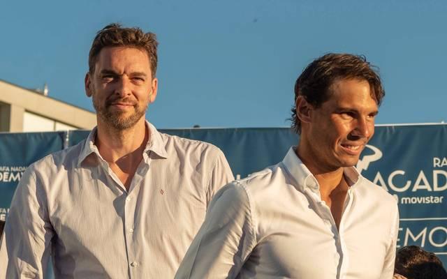 Pau Gasol (l.) und Rafael Nadal sind gute Freunde
