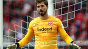 DUESSELDORF, GERMANY - FEBRUARY 01: Goalkeeper, Kevin Trapp of Eintracht Frankfurt in action during the Bundesliga match between Fortuna Duesseldorf and Eintracht Frankfurt at Merkur Spiel-Arena on February 01, 2020 in Duesseldorf, Germany. (Photo by Dean Mouhtaropoulos/Bongarts/Getty Images)