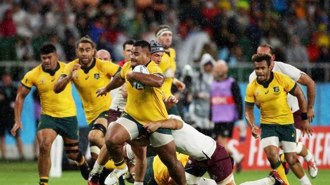 Die Australier setzen sich bei der Rugby-WM gegen Georgien durch