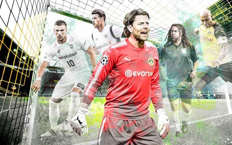 Am Freitag feiert Roman Weidenfeller seinen Abschied im Signal Iduna Park. Zahlreiche Stars sind dabei - Weggefährten aus Dortmund, Kaiserslautern und dem Nationalteam. SPORT1 hat die kompletten Kader zum Durchklicken.