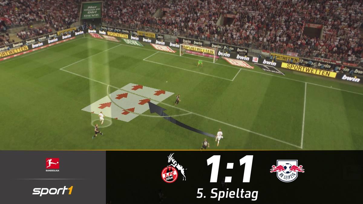 Jesse Marsch und RB Leipzig lassen beim 1:1 in Köln erneut Punkte liegen. Tapfer kämpfende Kölner verpassen in einem furiosen Finale den Sieg.