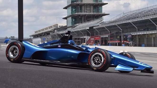 So werden die Fahrzeuge der IndyCar-Serie 2018 auf Superspeedways aussehen