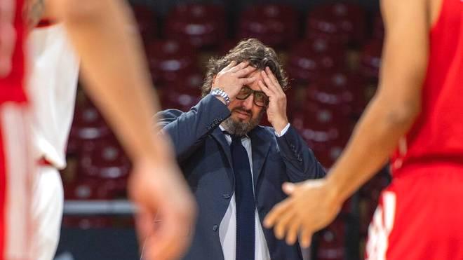 Für Bayern-Trainer Andrea Trinchieri war die Partie gegen Real Madrid schnell beendet