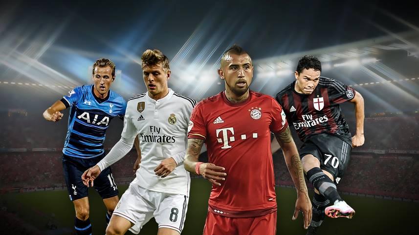 Hochklassige Kicker beim Audi Cup in München. Der FC Bayern empfängt Real Madrid, den AC Mailand und Tottenham Hotspur in München. Die Teams haben eine Menge Hochkaräter in ihren Reihen. SPORT1 zeigt die Superstars der Teams