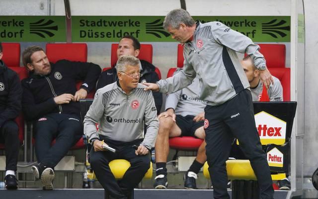 Friedhelm Funkel (r.) würde in Düsseldorf gerne mit Peter Hermann weitermachen
