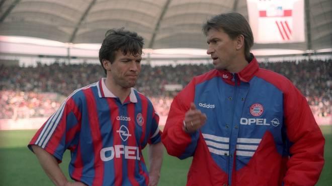 Klaus Augenthaler (r.) war im Mai 1996 für ein Spiel Bayern-Trainer