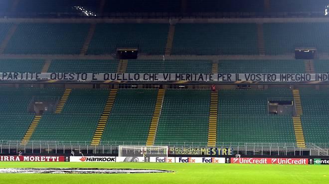 Fans von Inter Mailand boykottierten die Europa-League-Partie gegen Sparta Prag