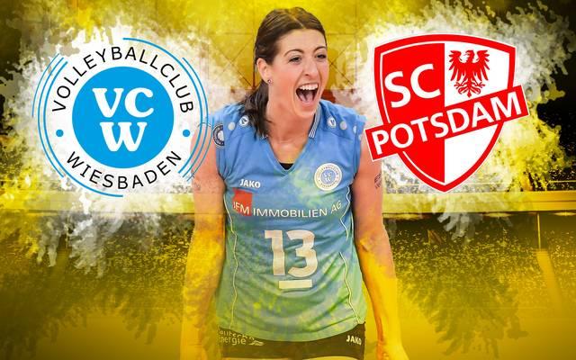 Der VC Wiesbaden empfängt am Mittwoch den SC Potsdam