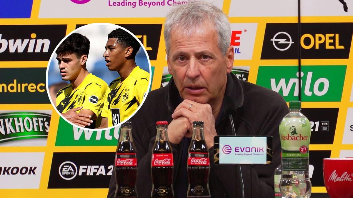 Gegen Gladbach stechen beim BVB die 17-jährigen Jude Bellingham und Giovanni Reyna heraus. Lucien Favre erklärt, warum die Youngster aktuell die Nase vorn haben.