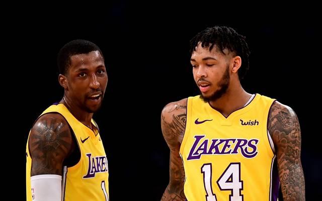 Kentavious Caldwell-Pope (l.), Brandon Ingram und die Los Angeles Lakers treffen auf Minnesota