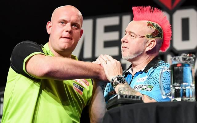 Michael van Gerwen und Peter Wright wollen ins Halbfinale der Darts-WM