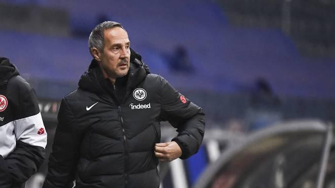 Adi Hütter ist mit der Punkteausbeute der Eintracht nicht zufrieden