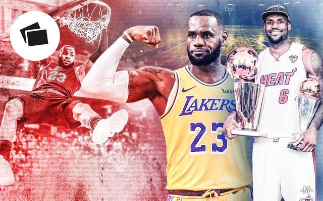 Die Karriere von LeBron James wird geprägt von Titeln und Rekorden, aber auch verlorenen Finals
