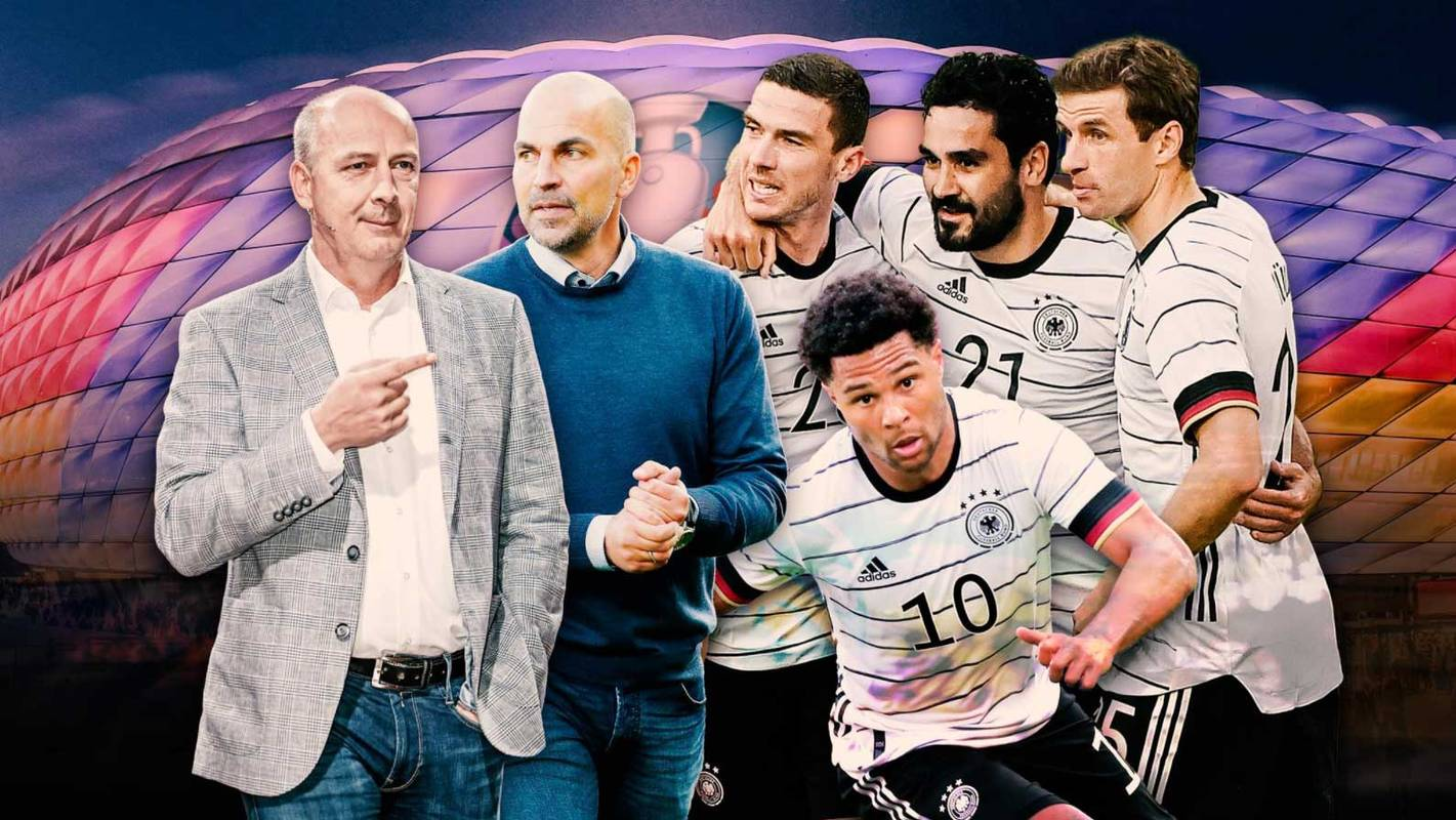Mario Basler (l.) und Markus Babbel (2.v.l.) haben klare Ansichten zum DFB-Team bei der