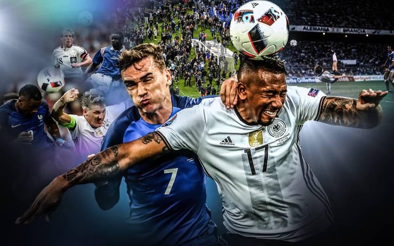 Deutsch-französische Duelle sind echte Klassiker. Am Dienstag messen in der Nations League Deutschland und die Equipe Tricolore erneut die Kräfte. SPORT1 blickt auf die spannendsten Duelle zurück - und auf den Terroranschlag vor drei Jahren