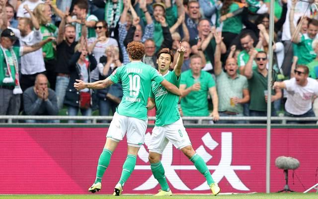 Yuya Osako schnürte den Doppelpack für Werder Bremen gegen den FCA