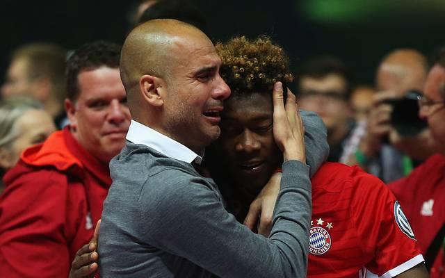 Pep Guardiola herzte David Alaba nach seinem Weggang 2016 besonders innig