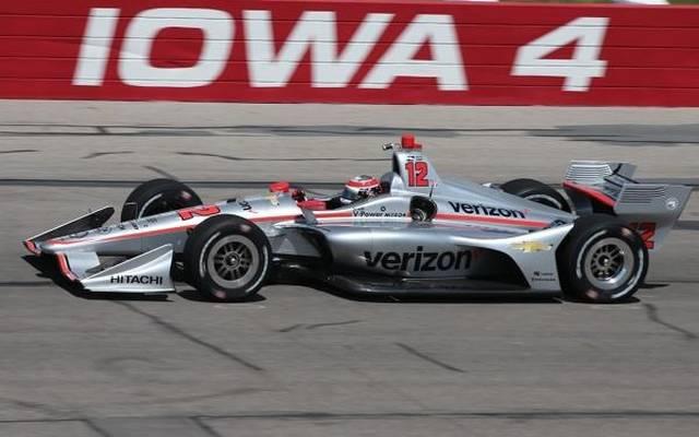 Will Power sicherte sich seine zweite Pole-Position in Iowa hintereinander