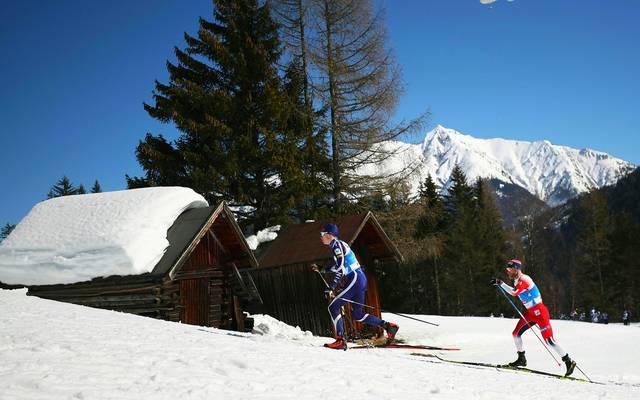 Nordische Ski-WM: Skilanglauf Männer, 15 Kilometer LIVE im TV, Stream, Ticker: Iivo Niskanen (l.) und Martin Johnsrud Sundby zählen zu den Medaillenkandidaten