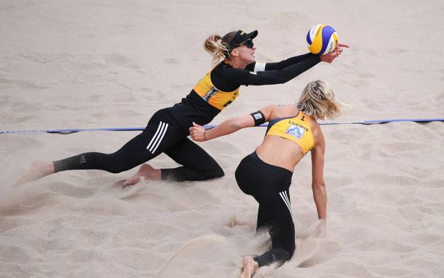 Margareta Kozuch und Laura Ludwig verloren das DM-Finale in drei Sätzen