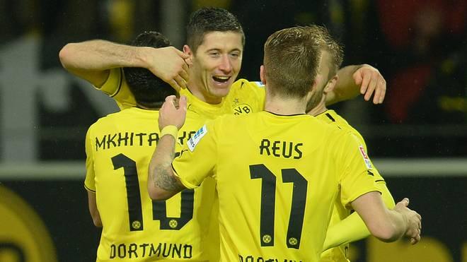 Robert Lewandowski schnürte in seiner letzten BVB-Saison unter anderem einen Dreierpack gegen Stuttgart