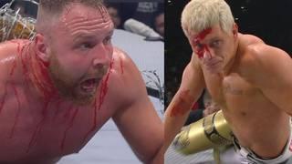 Jon Moxley (l.) und Cody Rhodes lieferten bei AEW Full Gear blutige Effekte