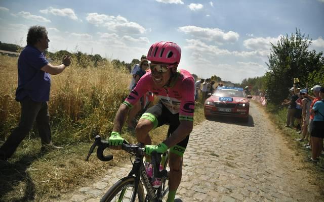 Tour de France 2018: Vorjahreszweiter Rigoberto Uran steigt aus, Der Kolumbianer Rigoberto Uran muss die Tour verletzt vorzeitig beenden