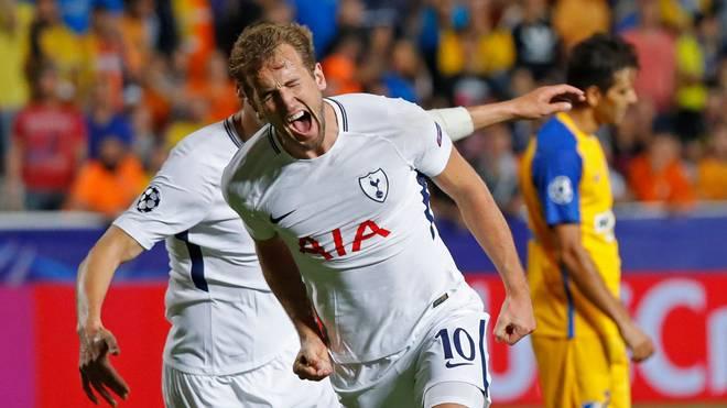 Harry Kane traf gegen Apoel Nikosia dreimal für Tottenham Hotspur