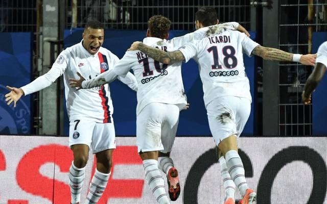 Die Torschützen vom Dienst: Kylian Mbappe, Neymar und Maro Icardi (v.l.n.r.)