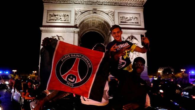 Paris' Fans feierten den Finaleinzug auf den Straßen