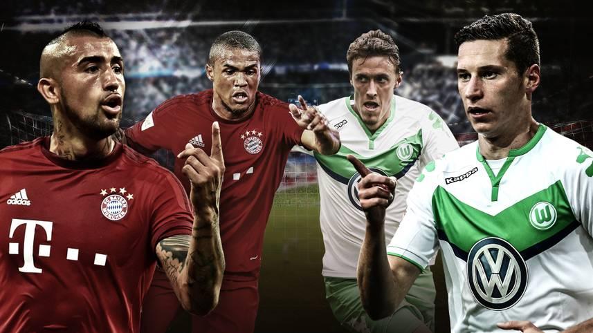 Zwischen dem VfL Wolfsburg und dem Bayern München geht es am Dienstagabend nicht nur um drei Punkte - es ist der der erste Härtetest für beide Teams in dieser Saison. Das Duell zwischen Meister und Vizemeister. SPORT1 blickt im Head-to-head auf die einzelnen Positionen der beiden Teams