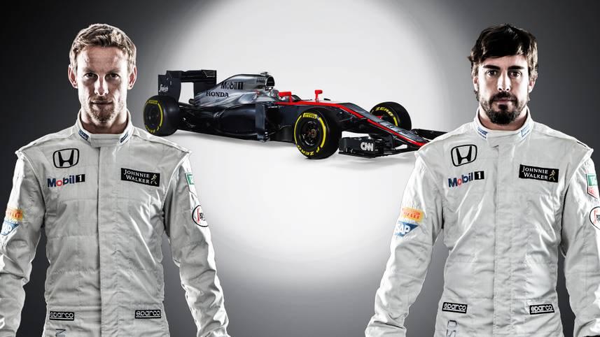Jenson Button (l.) und Fernando Alonso sind bereit für die neue Saison. Sie wollen das Traditionsteam McLaren wieder zu alter Stärke führen.