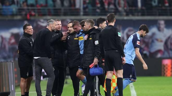 Christoph Kramer (5. v.l.) fehlt im Derby gegen Köln